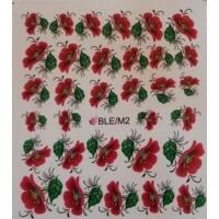 Ваденки за нокти Цветя BLE/M 02