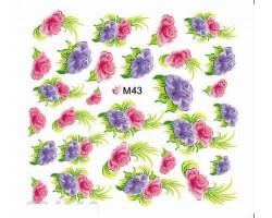 Ваденки за нокти Цветя M 043