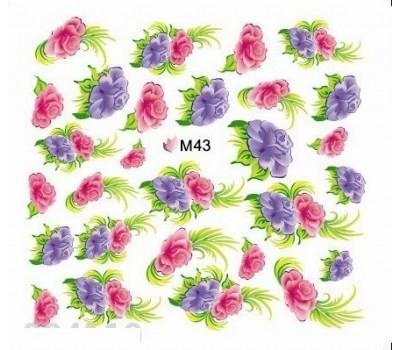 Ваденки за нокти Цветя 043