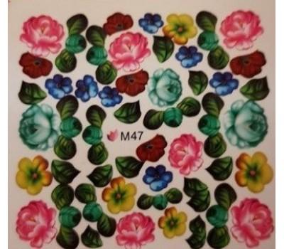 Ваденки за нокти Цветя 047