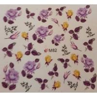 Ваденки за нокти Цветя M 082