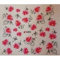 Ваденки за нокти Цветя 083
