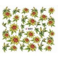 Ваденки за нокти Цветя 091