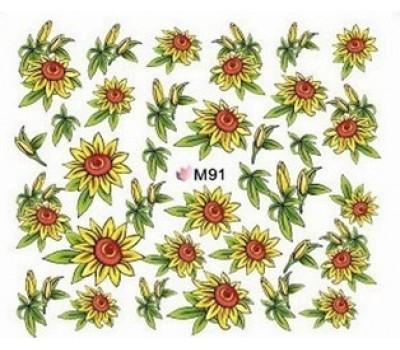 Ваденки за нокти Цветя M 91