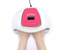 UV/LED двойна лампа 72W с подарък топ,база и гел Розово сияние по 10 мл на Pretty