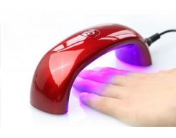 Мини LED лед ув лампа 9W с таймер- Слушалка Червен цвят