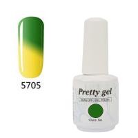 Гел лак Pretty Термо 5705 зелено и жълто