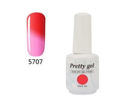Гел лак Pretty Термо 5707 Розово към светло червено