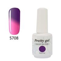 Гел лак Pretty Термо 5708 Розово към тъмно лилаво