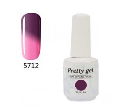 Гел лак Pretty Термо 5712 Розова магия към синя нежност