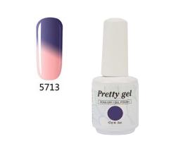 Гел лак Pretty Термо 5713 лилаво-розова магия