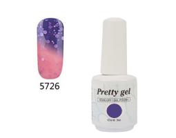 Гел лак Pretty Термо 5726 цвят лилаво сияние