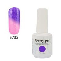 Гел лак Pretty Термо 5732 цвят брокатено лилаво небе