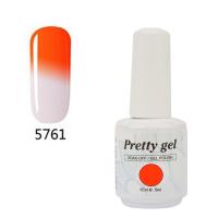 Гел лак Pretty Термо 5761 Оранж към бледо лила