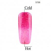 Гел лак Pretty Термо 5739 цвят променлива розова свежест
