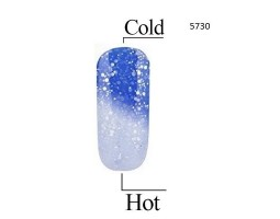 Гел лак Pretty Термо 5730 цвят блестящо синьо