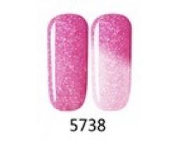 Гел лак Pretty Термо 5738 брокатено розово небе
