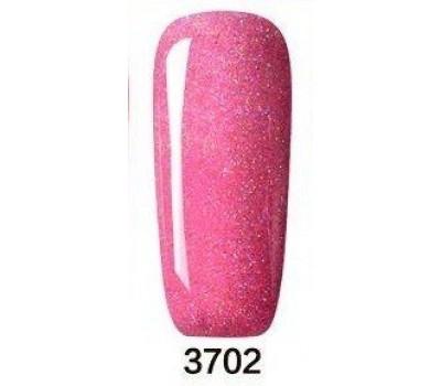 Гел лак Pretty Rainbow 3702 цвят брокатен розов бонбон