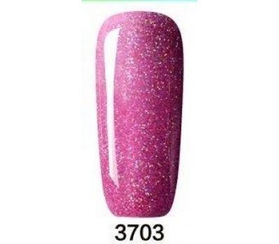 Гел лак Pretty Rainbow 3703  цвят брокат розов нюанс