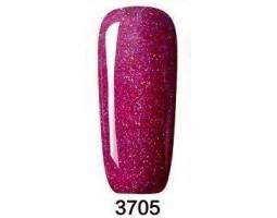 Гел лак Pretty Rainbow 3705 цвят розов блясък