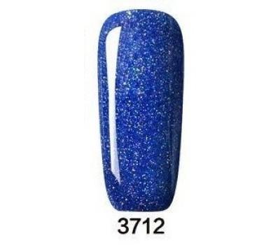 Гел лак Pretty Rainbow 3712 цвят тъмен брокат турско синьо
