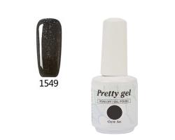 Гел лак Pretty 1549 Черен брокат
