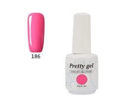 Гел лак Pretty 186 Барби розов цвят