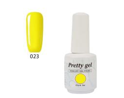 Гел лак Pretty 23  Жълто