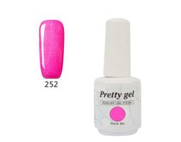 Гел лак Pretty 252 Розова циклама
