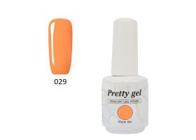 Гел лак Pretty 29  Праскевено оранжев