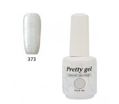 Гел лак Pretty 373 бледо сива перла