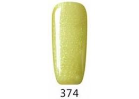 Гел лак Pretty 374 Прозрачно захарно зелен