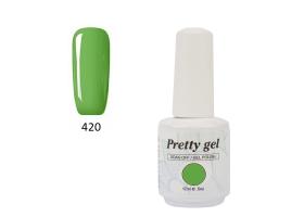 Гел лак Pretty 420 светло зелен