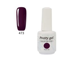 Гел лак Pretty 473 Тъмно лилаво