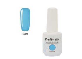 Гел лак Pretty 689 Светло синьо
