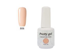 Гел лак Pretty 806 прасковен цвят