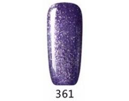 Гел лак Pretty 361 лилаво ситен брокат