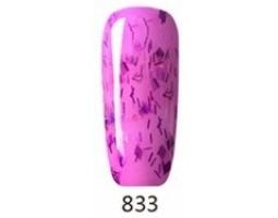 Гел лак Pretty 833 Розово с конфети