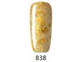 Гел лак Pretty 838 Златен с частици