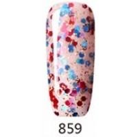 Гел лак Pretty 859  Прозрачен с цветни конфети