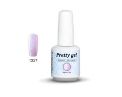 Гел лак Pretty 1327 Светло розово с пигментен брокат - 823