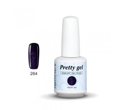 Гел лак Pretty 264  Тъмно синя лила 262