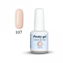 Гел лак Pretty 107 Прозрачно розов