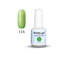 Гел лак Pretty  116 Перлено неоново зелено