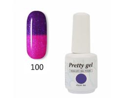 Гел лак Pretty Термо 100 цвят лилаво сияние