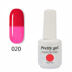 Гел лак Pretty Термо 20 - 5707 Розово към светло червено
