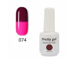 Гел лак Pretty Термо 74 - 5704 Розово към кафяво