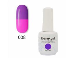 Гел лак Pretty Термо 08 - 5732 цвят лилаво небе