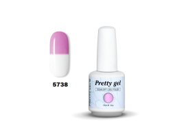 Гел лак Pretty Термо 5738 перлено розово небе
