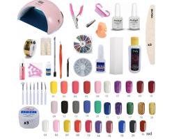 Комплект Ув лампа - 30 цветни гела
